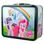 My Little Pony Metal Characters Rainbow Dash Twilight Sparkle Pinkie Pie Lunch Box Side