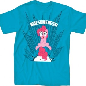 My Little Pony Pinkie Pie Awesomeness Adult Turquoise T-shirt Brony.com