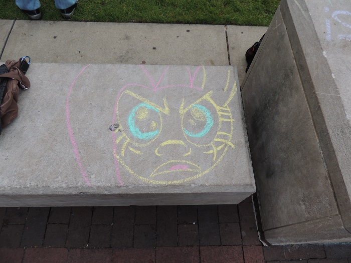 brony.com fan artwork unversity of michigan bronies chalk art