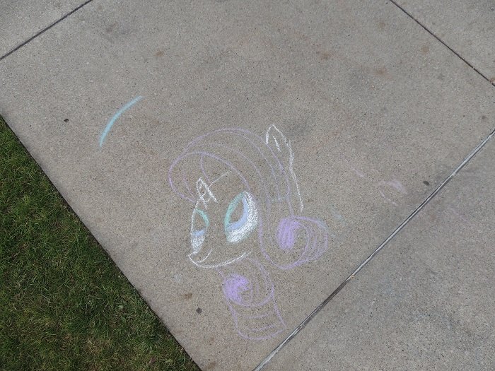 u of m bronies brony.com photo chalk