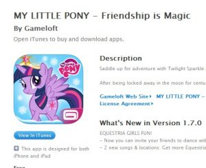 My Little Pony Gamesoft Mobile game brony.com free