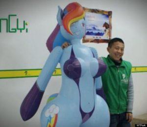 Rainbow Dash My Little Pony inflatable sex doll