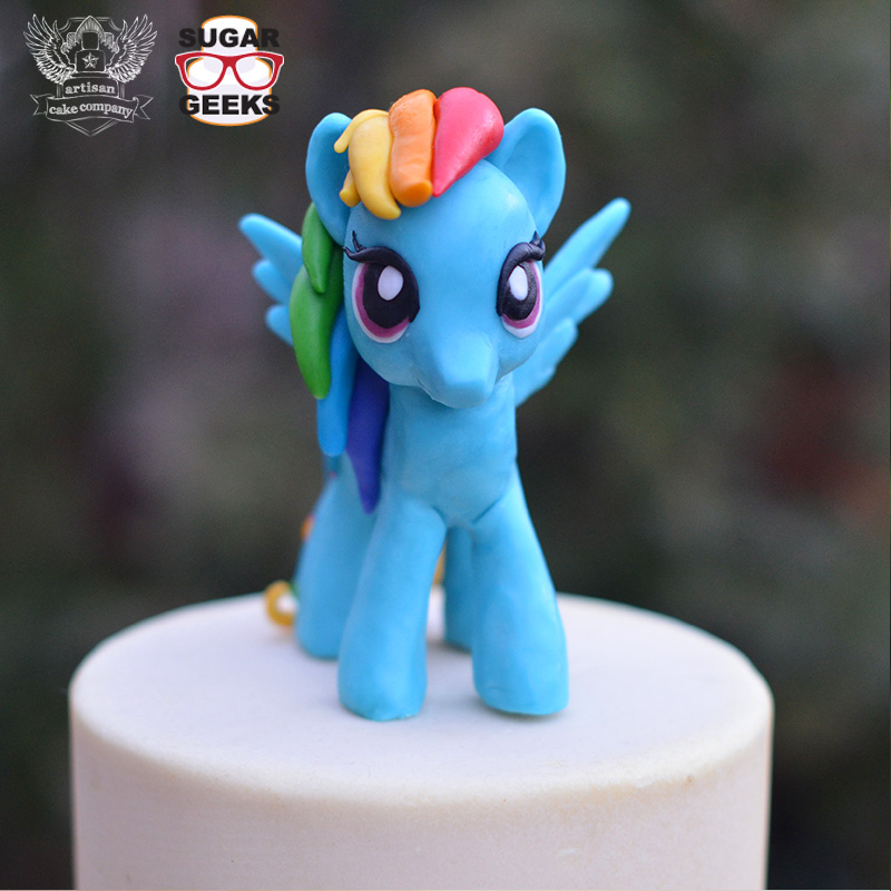Learn How To Make A Rainbow Dash Cake Topper Here Brony T