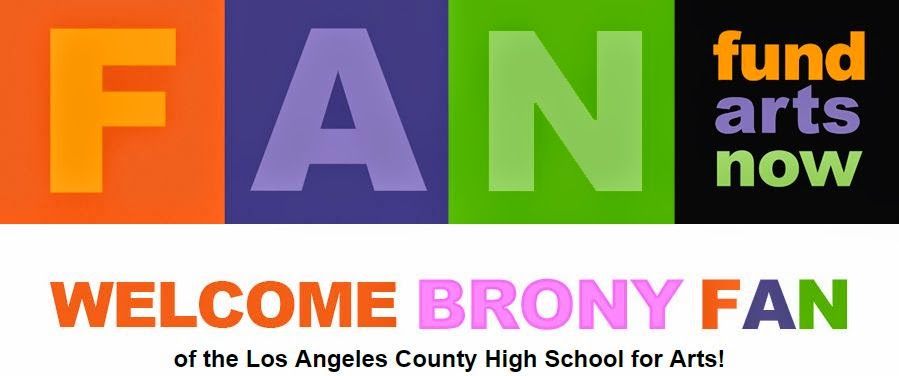 brony donations for los angeles county high school for the arts