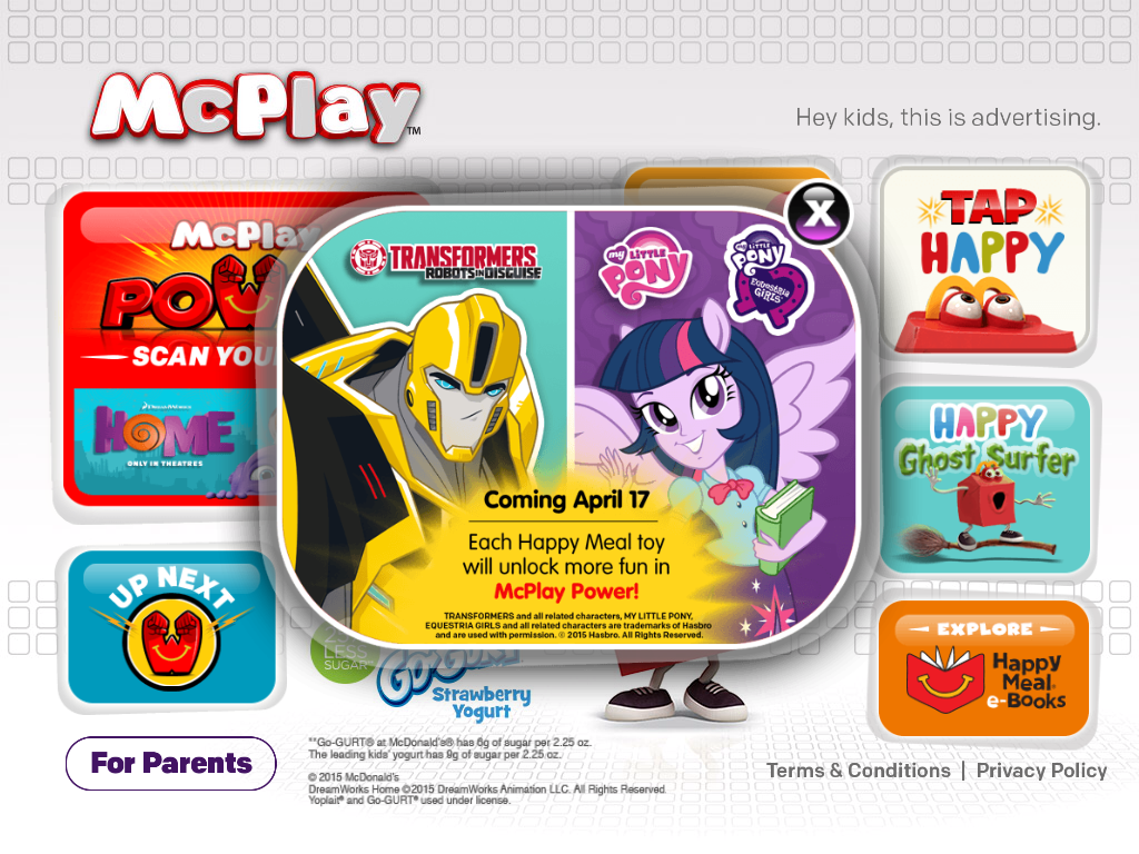 McDonalds My Little Pony toys available April 17th, 2015