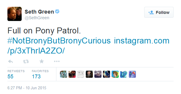 Seth Green a fan of My Little Pony