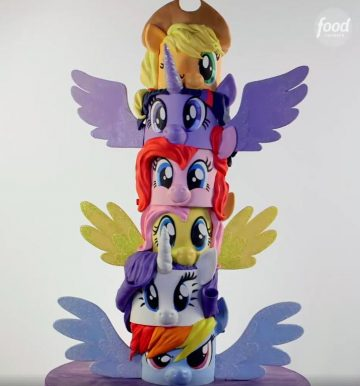 The Butter End Food Network 6-tier My Little Pony birthday cake